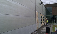 Cladding Over Painting - mid process
